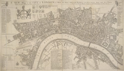A NEW Mapp of the CITY of LONDON &c. With the Many additional Buildings and New Streets Anno 1720 In a Playne Method for Easy finding any street at first View